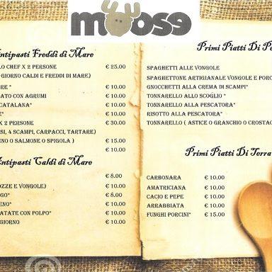 moose ristorante ostia menù1